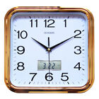 Home LCD Silent Non-Ticking Quartz Battery Operated 11.5 Inch Digital Wall Clock