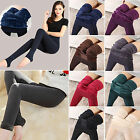 Solid Women's Winter Thick Warm Fleece Lined Thermal Stretchy Leggings Pants New