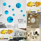 New Modern Home Room Art 3D DIY Round Shape Mirror Decoration Wall TXSU