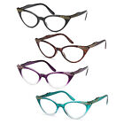 GAMMA RAY 3 Pairs Women Vintage Cat Eye Reading Glasses Readers w/ Magnification