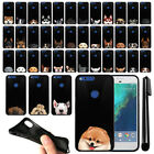 "For Google Pixel XL 5.5"" HTC Dog Design TPU Black SILICONE Soft Case Cover + Pen"