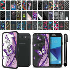 For Samsung Galaxy J7 2017/ J7V J727 Hybrid Clear TPU bumper Case Cover + Pen