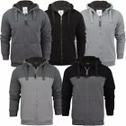 Mens Brave Soul Zip Up Sherpa Fleece Lined Hooded Jacket Top Sweatshirt Size