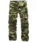 Combat Men's Outdoor Camouflage Cargo Pants Camo Trousers Army Cotton Casual Hot
