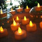 12-120pcs Battery Operated Tea Lights Realistic Flameless LED Fake Candle Lamp