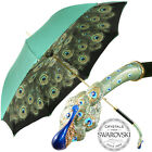 Bellezza Double Canopy Umbrella with an Enamelled Peacock Ha