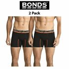 Mens Bonds Active Fit Mid Trunks Sports 2 PACK Trunk Cotton Stretch Cool MZBLI