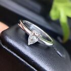 2.2Ct 10X7mm Pear Shape Excellent Cut Moissanite Engagement Ring 14K White Gold