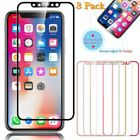 3 Pack For iPhone X 3D Curved Full Coverage Tempered Glass Screen Protector USA