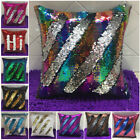 Reversible Magic Mermaid Pillow Sequin Cover Swipe Sofa Cushion Case Touch