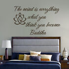 Inspiration Buddha Yoga Wall Decal The mind is Everything Saying Vinyl Art Decor