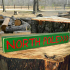 North Pole >>> Wooden Sign - Shelf Sitter - 6 Different Color Combos!
