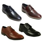 LUCINI MENS LEATHER FORMAL SHOES OXFORD GOODYEAR WELTED BOOTS IN BLACK & BROWN