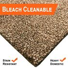 Bleach Cleanable Soft Saxony BROWN Carpet Hessian Back FREE Underlay £10sm
