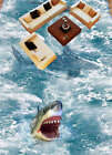 Amused Shark Baby 3D Floor Mural Photo Flooring Wallpaper Home Print Decoration