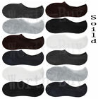 Lot of 6-12 Pairs Mens No Show Loafer Boat Liner Low Cut Socks Solid Size 10-13