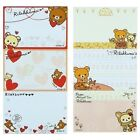 SAN-X RILAKKUMA PERFORATED NOTEPAD 3 DIFFERENT DESIGNS 30 SHEETS IN TOTAL