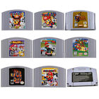 Video Games - For Nintendo 64 Game Mario Smash Bros Kart Video Game Cartridge Console Card US