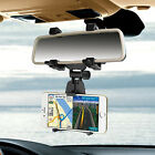 Universal Auto Car Rearview Mirror Mount Stand Holder Cradle For Cell Phone GPS