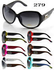 New DG Eyewear Womens Fashion Stripe Designer Sunglasses Shades Round Wrap Large