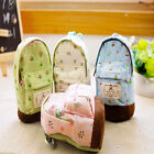 Mini Campus Floral Backpack Pattern Canvas Zipper Pencil Bag Case Cosmetic Bags
