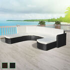 Outdoor Rattan Wicker Sectional Sofa Couch Furniture Patio Garden Brown/Black✓