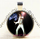 Elvis Presley Cabochon Silver/Bronze/Black/Gold Glass Chain Necklace #3541
