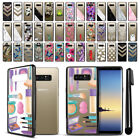 "For Samsung Galaxy Note 8 N950 6.3"" Hard TPU Black Bumper Case Cover + Pen"