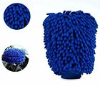 Car Premium Double Chenille Microfiber Wash Mitts Blue 9.06 Inchx7.1 Inch