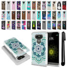 For LG G5 H850 VS987 Hybrid Bumper Shockproof Hard TPU Phone Case Cover + Pen
