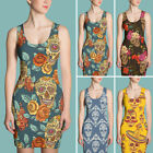 Floral Skull Dress Collection-Best Novelty Gift for Her-Sub Cut & Sew Dresses