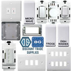 BG Nexus White Grid Plate Labelled Appliance Secret Key Switch Components Curved