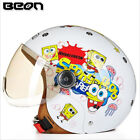 BEON Kids ABS ECE Motorcycle Helmet Cartton Bike Half Helmet Skating Helmet