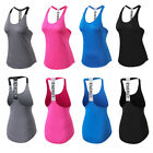 Womens Yoga Running T-back Tank Tops Gym Workout Training Ve