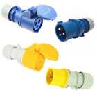 PCE 32A 240V 110V 3 Pin Industrial Plugs Sockets Couplers IP44 Site Connectors