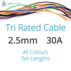 5m 2.5mm 30AMP 12V Tri Rated Cable Panel Wiring Loom Automotive Marine Auto Wire