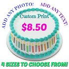 Custom Personalized Edible Photo Image Cake Topper Icing Sheet Frosting Sheet