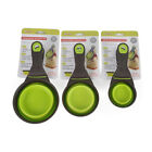 17cm Collapsible Pet Cat Rabbit Dog Food Scoop Spoon Measuring Cup Sealing Clip