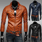 Fashion Mens Genuine leather Up Collar Stylish Leather Jackets In All Sizes