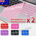 """2x Silicone Keyboard Soft Cover For Macbook Mac Air 15/15.4"""" Skin Protector AUS"""
