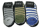 3 Pairs Mens House Indoor Winter Warm Knit Non-Slip Socks Slipper Shoes 10-13