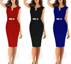 pencil works - Women Bandage Bodycon Formal Work Evening Party Cocktail Pencil Mini Dress Lot