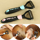 Внешний вид - Cute Dog Pet Fur Dematting Grooming Deshedding Trimmer Tool Comb Brush 10 Blades