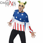 Mens 90s Fire Starter Costume Prodigy Keith Flint Adult Fancy Dress Party Outfit