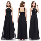 Ever-Pretty Elegant Long Party Dress Black Backless Wedding Evening Gown 08572