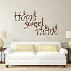 Home Sweet Home Wall Decal Inspiration Antler Hunting Room Vinyl Removable Decor