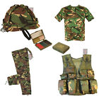Kids - DELUXE A - Army Camo Fancy Dress Children's Soldier Outfit ( Shirt Pants