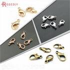 70pcs Lobster Claw Clasps Findings Bracelet Necklace Chain 10x5.5x3mm Silver 30g