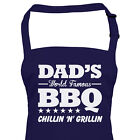 BBQ Apron Dads World Famous BBQ, Gift For Dad Him Christmas