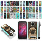 For Motorola Moto Z2 Force 2nd 2017 Hybrid Bumper Shockproof Case Cover + Pen